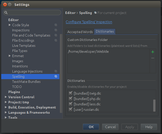 phpstorm-russian-spell-check-settings